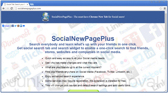 Social New Page Plus